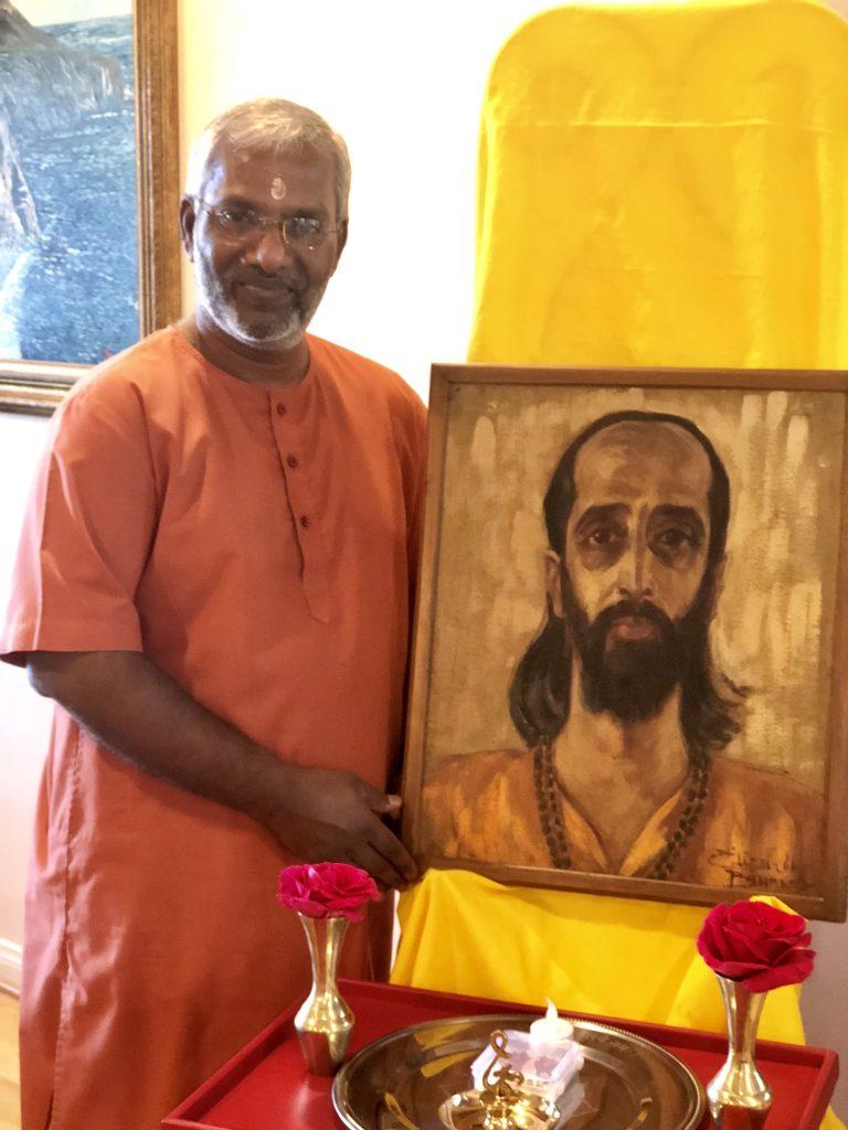 Visit by Swami Ramakrishnananda